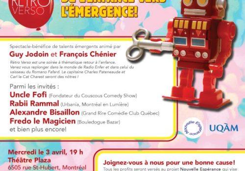 La soirée «Rétro Verso» au Théâtre Plaza de Montréal le 3 avril prochain: un retour en enfance à ne pas manquer!