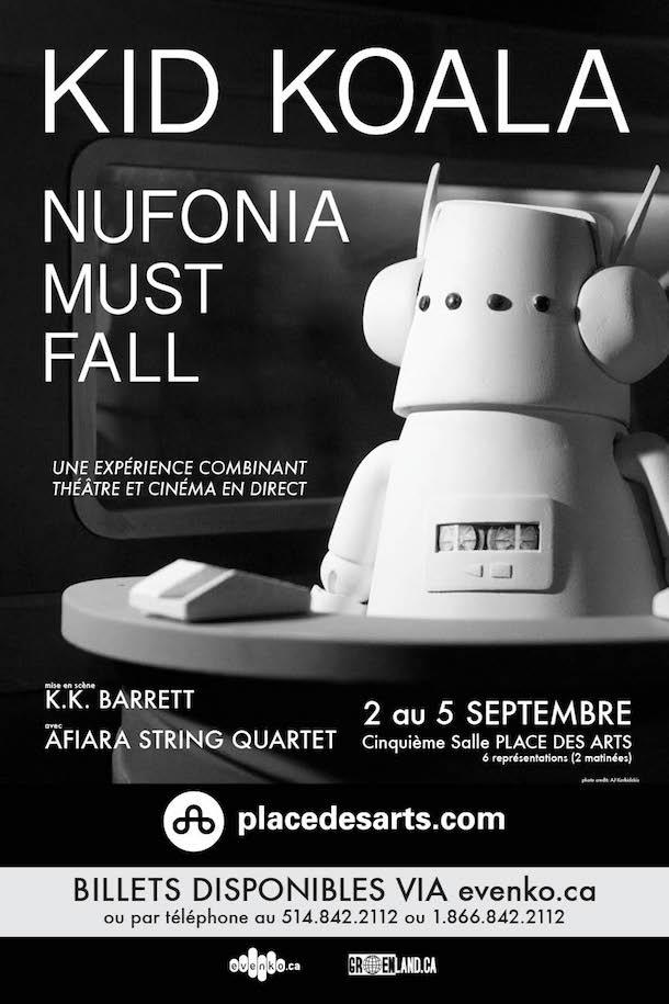 DJ Kid Koala émerveille avec le spectacle «Nufonia Must Fall» du 2 au 5 septembre 2016