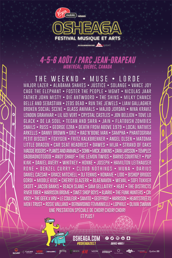 Poster-affiche-Osheaga-2017-Montreal-Bible-urbaine-line-up-Muse-The-Weeknd-Lorde