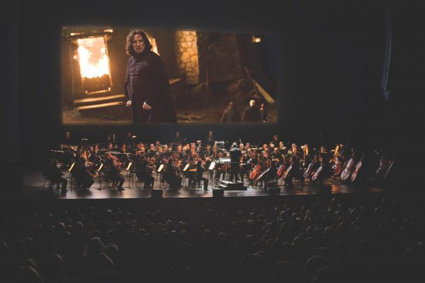 Harry Potter 6 Image on screen with orchestra_CMYK